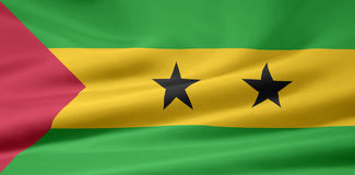 Flag of Sao Tome and Pricipe. Very large version of a Sao Tome and Principe flag Stock Photography