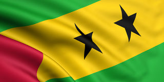 Flag Of Sao Tome And Principe royalty free stock photos