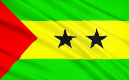 Flag of Sao Tome and Principe. Adopted to replace the flag of Portugal from the colonial period, it has been the flag of the Democratic Republic of Sao Tome vector illustration