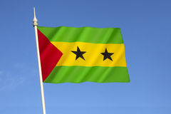 Flag of Sao Tome and Principe. Adopted to replace the flag of Portugal from the colonial period, it has been the flag of the Democratic Republic of Sao Tome Royalty Free Stock Photography