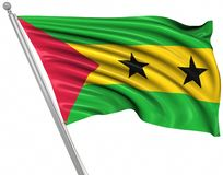 Flag of Sao Tome and Principe. This is a computer generated and 3d rendered image vector illustration