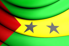 Flag of the Sao Tome and Principe Stock Image