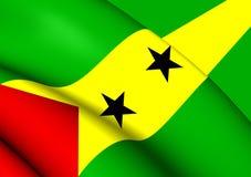 Flag of Sao Tome and Principe Stock Photography