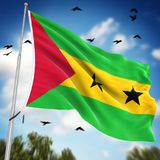 Flag of Sao Tome and Principe. This is a computer generated and 3d rendered image Royalty Free Stock Photography