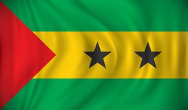Flag of Sao Tome and Principe. Vector illustration Stock Images