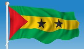 Flag of Sao Tome and Principe. Vector illustration Stock Image