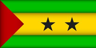 Flag of Sao Tome and Principe. Vector illustration. Patriotic background royalty free illustration