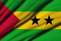 Flag of Sao Tome and Principe Stock Images