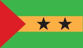 Flag of sao tome and principe  icon illustration Royalty Free Stock Photos
