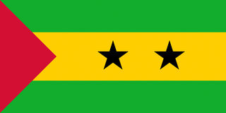 Flag of Sao Tome and Principe. Illustration of the national flag of Sao Tome and Principe Stock Photography