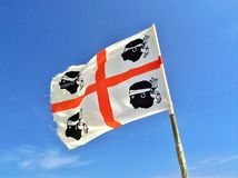 Flag of Sardinia Royalty Free Stock Image