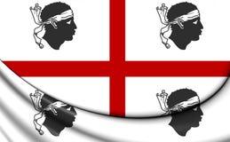 Flag of Sardinia, Italy. Royalty Free Stock Photo