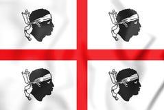 Flag of Sardinia, Italy. 3D Illustration. Stock Photography