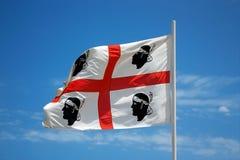 The flag of Sardinia - La bandiera sarda -The Flag of the four M Stock Photos