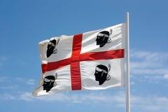 The flag of Sardinia - La bandiera sarda -The Flag of the four M Stock Photography
