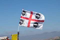 The flag of Sardinia.  La bandiera sarda. The Flag of the four M Royalty Free Stock Photo