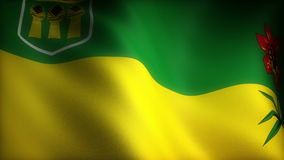 Flag of Saskatchewan State stock footage