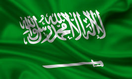Flag of saudi arabia. 3d rendered flag of saudi arabia Royalty Free Stock Images