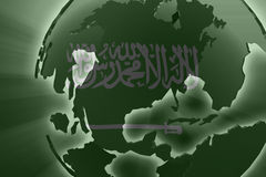 Flag of Saudi Arabia Stock Photo
