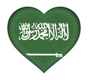 Flag of Saudi Arabia Heart. Stock Photos