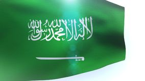 Flag of Saudi Arabia waving wave. Video stock video footage