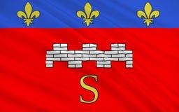 Flag of Saumur, France stock illustration