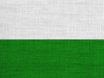 Flag of Saxony on old linen Stock Image