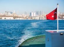 The flag scene from Turkey stock photo