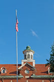Flag at School Royalty Free Stock Photography