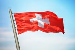 flag schweizare Fotografering för Bildbyråer