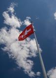 flag schweizare Royaltyfri Fotografi