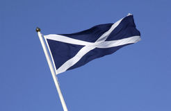 The flag of Scotland. Scotland is a part of the United Kingdom of Great Britain - Scottish Independence Royalty Free Stock Image