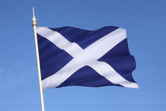 Flag of Scotland - Scottish Independence. The Flag of Scotland, also known as Saint Andrews Cross or the Saltire - Scottish Independence stock photo