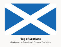 Flag of Scotland also known as St Andrews Cross or the Saltire Royalty Free Stock Image