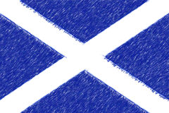 Flag of Scotland background o texture, color pencil effect. Royalty Free Stock Photography
