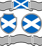 Flag of scotland with banners Stock Images