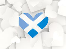 Flag of scotland, heart shaped stickers Stock Photos