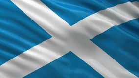 Flag of Scotland seamless loop Stock Photo