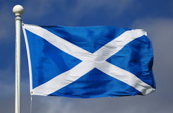 Flag of Scotland. On a sunny day royalty free stock photos
