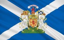 Flag of Scotland, United Kingdom of Great Britain. And Northern Ireland stock illustration