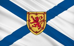 Flag of Scotland, United Kingdom of Great Britain. And Northern Ireland royalty free illustration