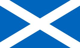 Flag of the Scotland. Vector illustration EPS10.  royalty free illustration