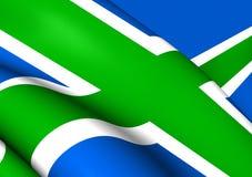 Flag of Scottish Highlands. Close Up Stock Image
