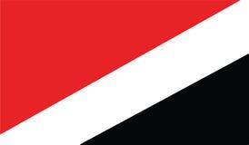 Flag of sealand principality  icon illustration Stock Images