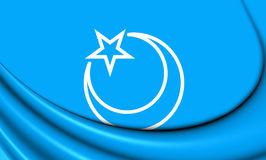 Flag of Second East Turkestan Republic Stock Photo