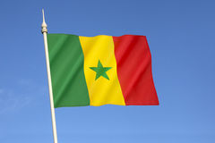 Flag of Senegal. Adopted in 1960 to replace the flag of the Mali Federation. It has been the flag of the Republic of Senegal since the country gained Royalty Free Stock Images