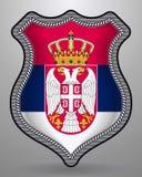 flag serbia Διανυσματικά διακριτικό και εικονίδιο Απεικόνιση αποθεμάτων