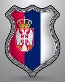 flag serbia Διανυσματικά διακριτικό και εικονίδιο Στοκ Φωτογραφίες