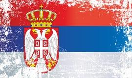 flag serbia Ζαρωμένα βρώμικα σημεία απεικόνιση αποθεμάτων
