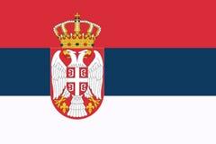 flag serbia Απεικόνιση αποθεμάτων